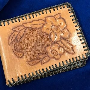 Handbags - Vintage handmade leather wallet